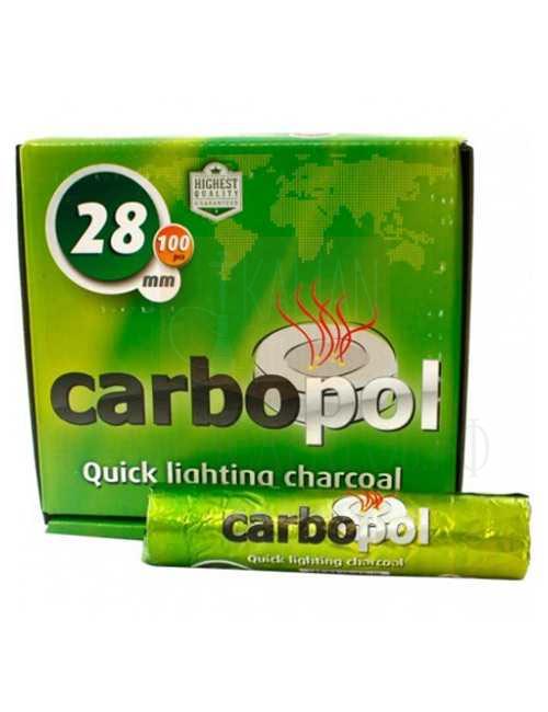 Уголь для кальяна Carbopol 28 mm