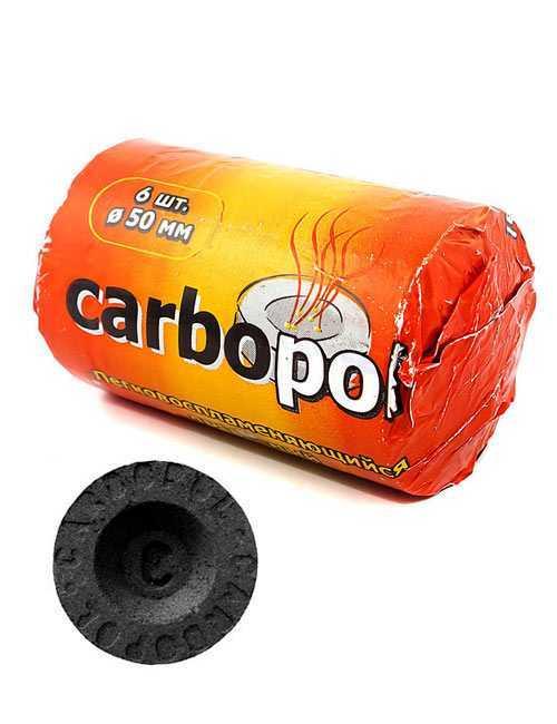 Уголь для кальяна Carbopol 50 mm